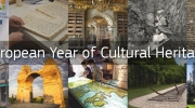 Photo: Banner for the European Year of Cultural Heritage.