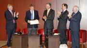 The prestigious Italian writer Claudio Magris received the Helena Vaz da Silva European Award for Raising Public Awareness on Cultural Heritage at a special ceremony in Lisbon. Photo: Pedro Melim.