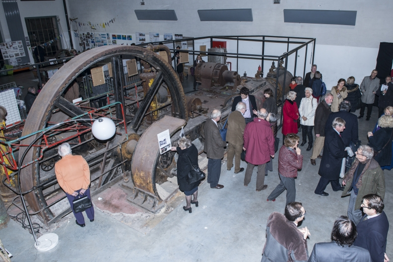After the official ceremony, the 100 guests visited the impressive engine room of the former brewery. Photo: Gilles Durvaux