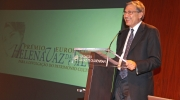 Orhan Pamuk at the Helena Vaz da Silva European Award in Lisbon on 3 October 2014. Photo: Pedro Melim