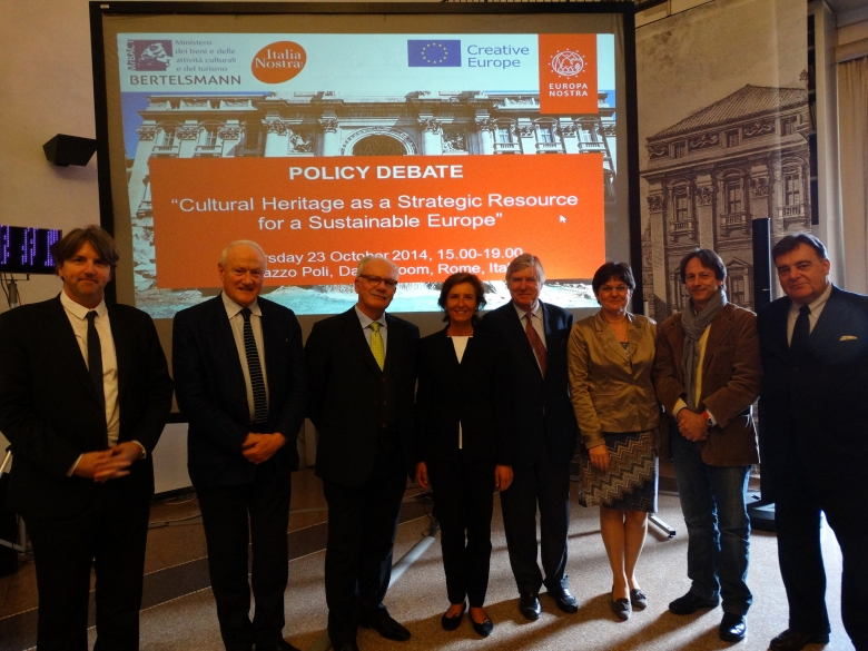 This debate was organised in the framework of the network project 'Mainstreaming Heritage' supported by the Creative Europe programme of the EU. Photo: Europa Nostra
