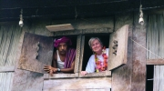 Helena Vaz da Silva in East Timor, at a historical and cultural journey promoted by Centro Nacional de Cultura, in 2001. Courtesy of Centro Nacional de Cultura.