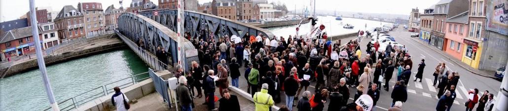 Colbert Swing Bridge in Dieppe, France.