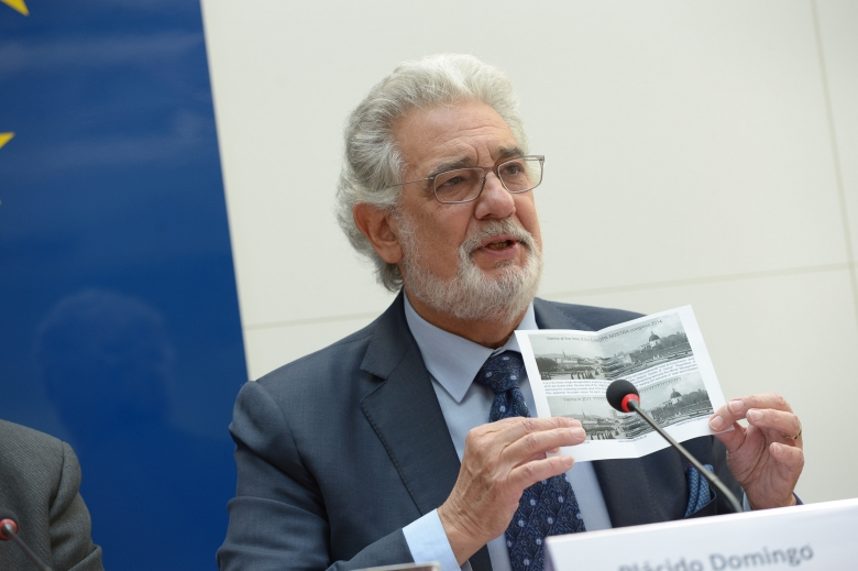 Europa Nostra's President Maestro Plácido Domingo drew the attention of the press to this controversial project already in May 2014 during the Europa Nostra Congress in Vienna. Photo: Oreste Schaller for Europa Nostra