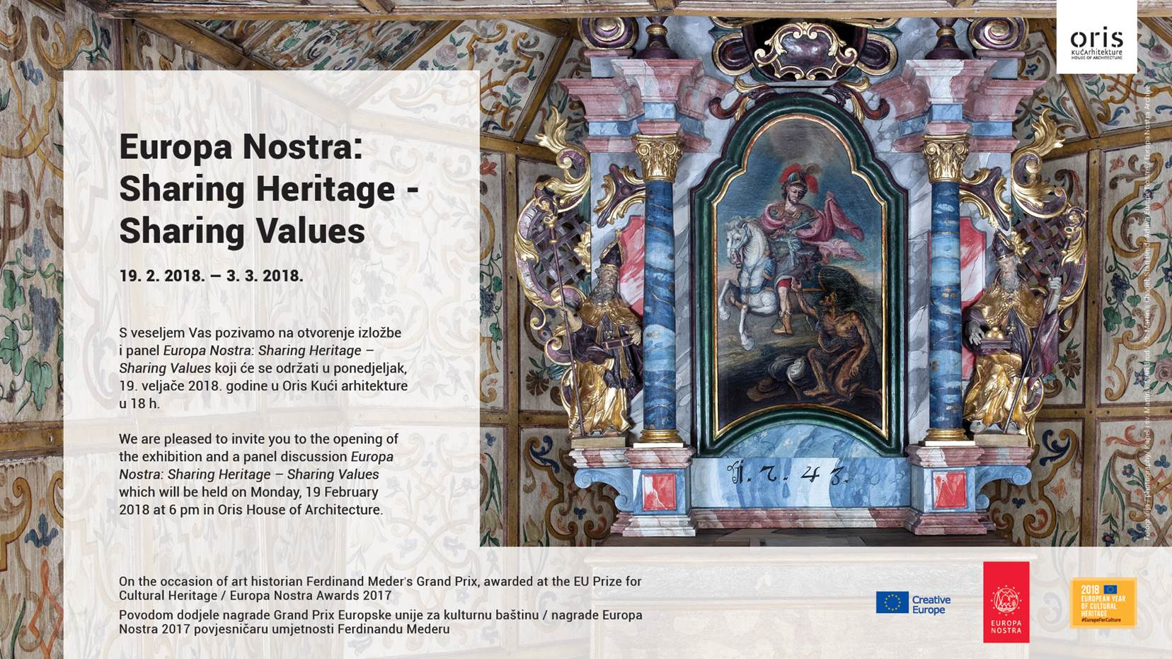 Opening Of The Exhibition Europa Nostra Sharing Heritage Sharing
