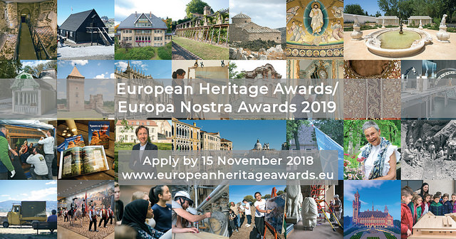 European Heritage Awards / Europa Nostra Awards 2019 are open for submissions