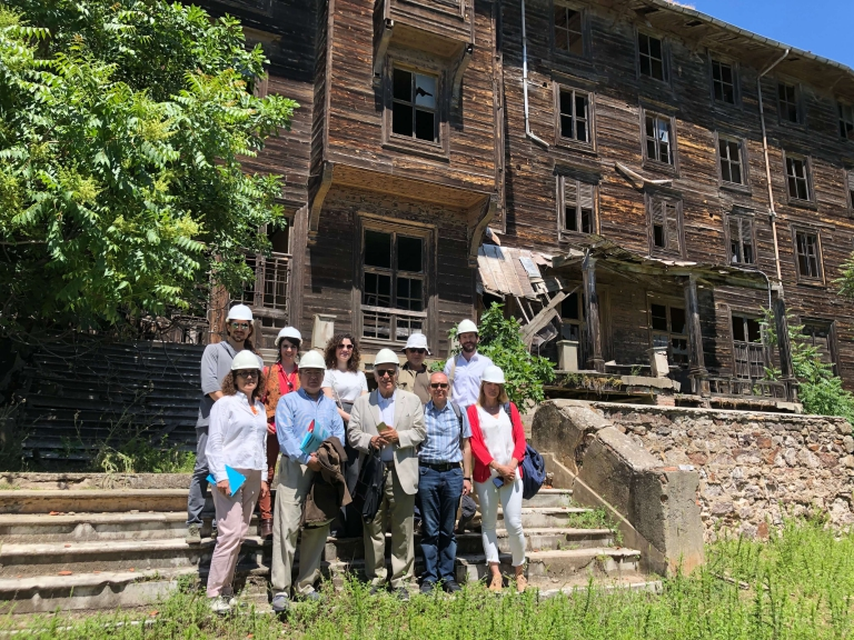 Europa Nostra and EIB Institute mission visits the former Prinkipo orphanage, Turkey