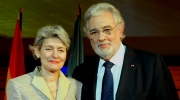 Placido Domingo, President of Europa Nostra, and Irina Bokova, Director General of UNESCO.