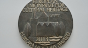 Photo: 2013 European Heritage Awards Plaque.
