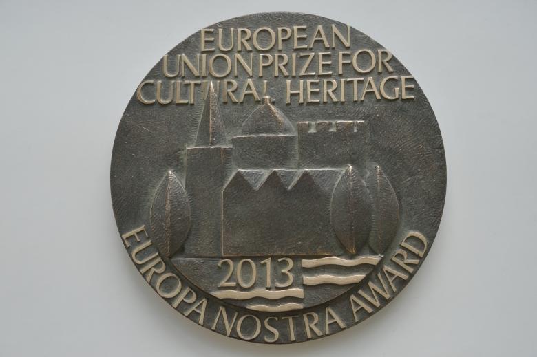 Photo: 2013 European Heritage Awards Plaque.