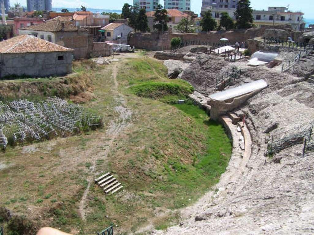Roman Amphitheatre in Durrës, ALBANIA. Photo: Courtesy of the Association for the Development of Cultural Tourism, Tirana, Albania