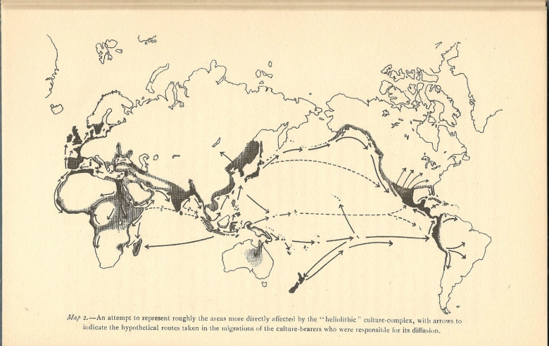 Image: Cultural diffusion map from Egypt by Grafton Elliot Smith