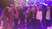 EU Commissioner Navracsics and MEP Silvia Costa being congratulated by Sneška Quaedvlieg-Mihailović, Secretary General of Europa Nostra, Dr Uwe Koch from the German Cultural Heritage Committee, and other members of the European Heritage Alliance 3.3, at the European Cultural Forum. Photo: Europa Nostra