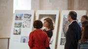 Queen Letizia was given a guided tour through the exhibition by Hispania Nostra's President Araceli Pereda Alonso. Photo: Felix Quaedvlieg