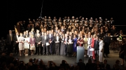 Group photo of the Grand Prix winners, EU Commissioner Navracsics, Europa Nostra's President Plácido Domingo and chairpersons of the Awards Juries. Photo: Álvaro Marín