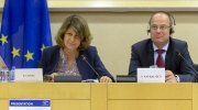MEP Silvia Costa and EU Commissioner Tibor Navracsics during the 'New Narrative for Europe' meeting held on 21 June 2016 at the European Parliament in Brussels. Photo: © European Union 2016 - Source: EP
