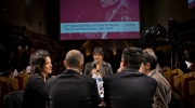 Europa Nostra's Secretary General was invited to be the moderator of the central panel debate on Europe's future strategy and policy with regard to culture. Photo: Courtesy of Forum d'Avignon