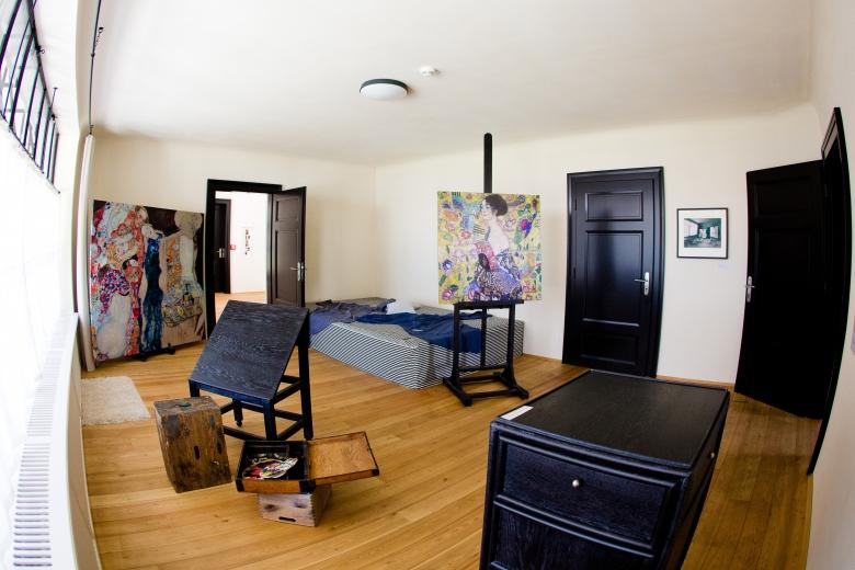 Atelier Gustav Klimt, Studio Room, courtesy of the Gustav Klimt Memorial Society.