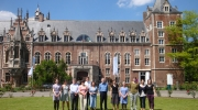 Steering Committee members of the project 'Cultural Heritage Counts for Europe' in front of the Kasteel Arenberg, Raymond Lemaire International Centre for Conservation in Leuven. Photo: Europa Nostra.