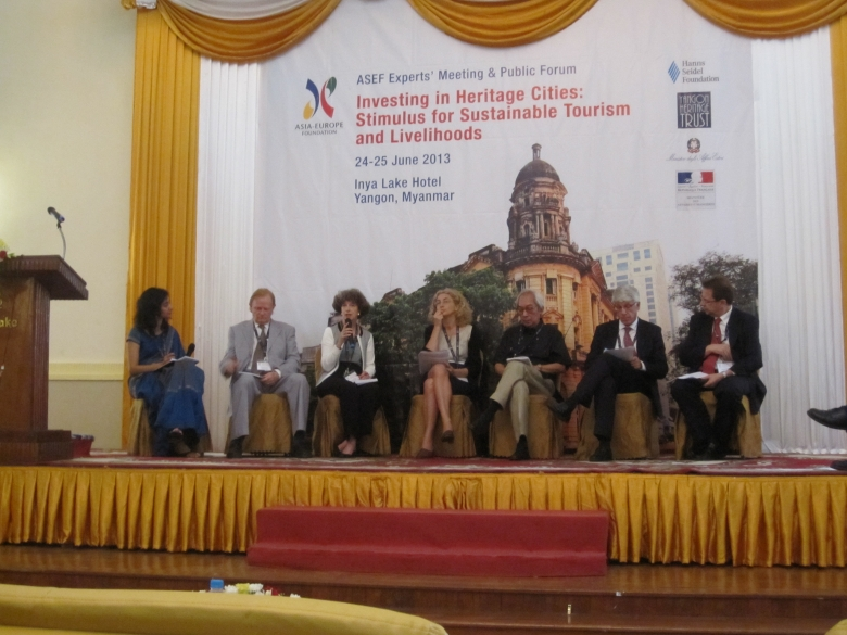 ASEF Experts meeting in Myanmar in June 2013. Europa Nostra's Council member Laurie Neale moderated a panel discussion during this gathering.