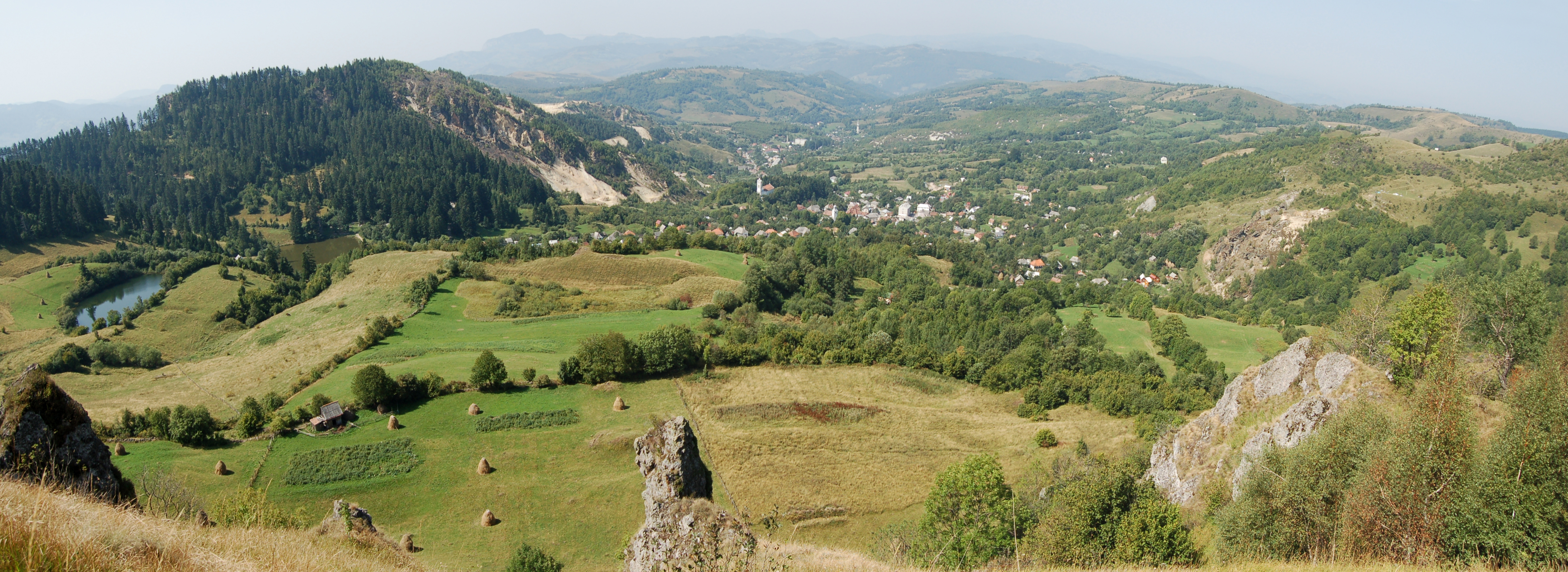 The historic mining landscape of Roşia Montană was listed as one of 'The 7 Most Endangered' heritage sites in Europe in 2013. Photo: Petru Mortu