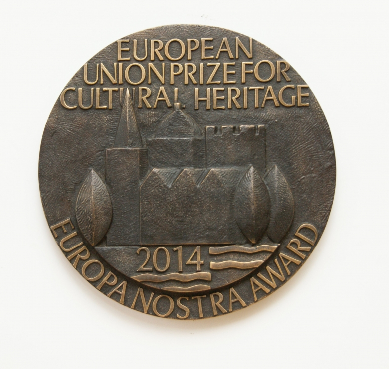 Plaque 2014 European Union Prize for Cultural Heritage / Europa Nostra Awards.