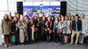 Group photo of the participants in the Capacity Buildings Days 2016 at the European Commission building in Brussels. Photo: Europa Nostra