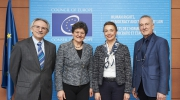 Strasbourg: Council of Europe's new Secretary General receives delegation from Europa Nostra