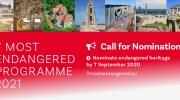 Call for Nominations for 7 Most Endangered 2021: Let's save Europe's endangered heritage sites together!