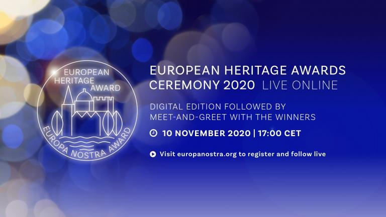 European Heritage Awards Ceremony 2020 – Live online – 10 November