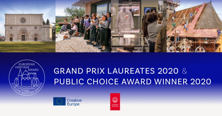 European Commission and Europa Nostra announce Europe's top heritage award winners 2020